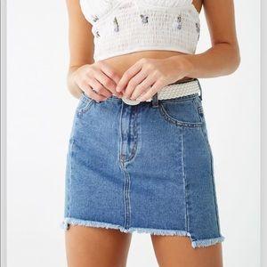 Step-hem Denim skirt from Forever21